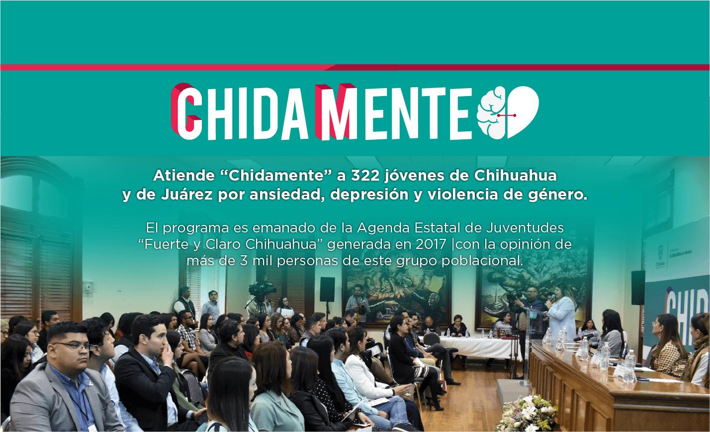 """Atiende """"Chidamente"""" a 322 jóvenes de Chihuahua y de Juárez por ansiedad, depresión y violencia de género"""