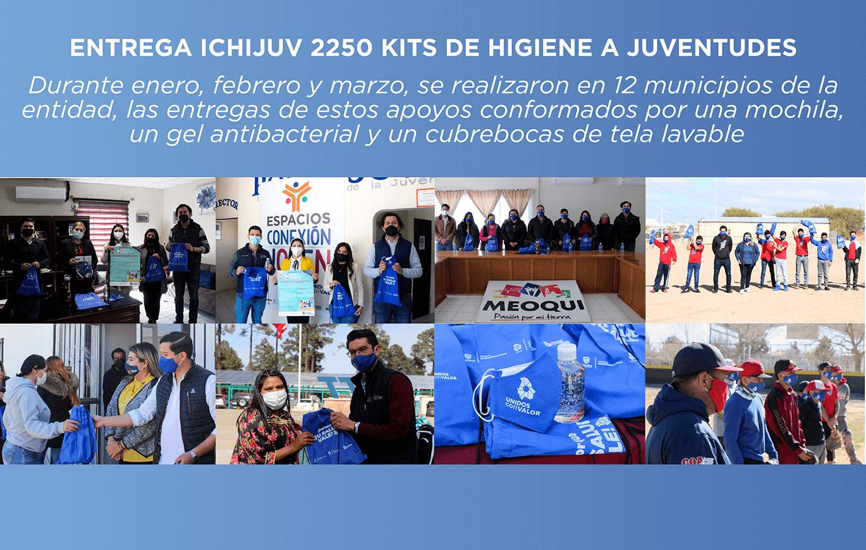 Entrega Ichijuv 2250 kits de higiene a juventudes del estado